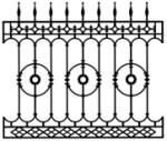 Cast Iron Fence: Bastille model