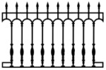 Cast Iron Fence: Rampart model