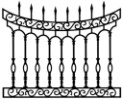 Cast Iron Fence: Scrolled Arch model