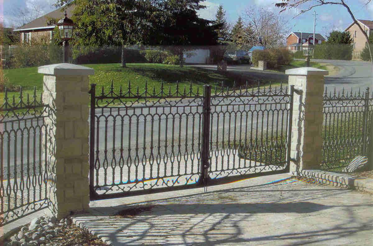 Iron gates cast