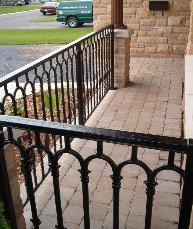 Cast Iron Metal Railings For Stairs, Porches, and Decks